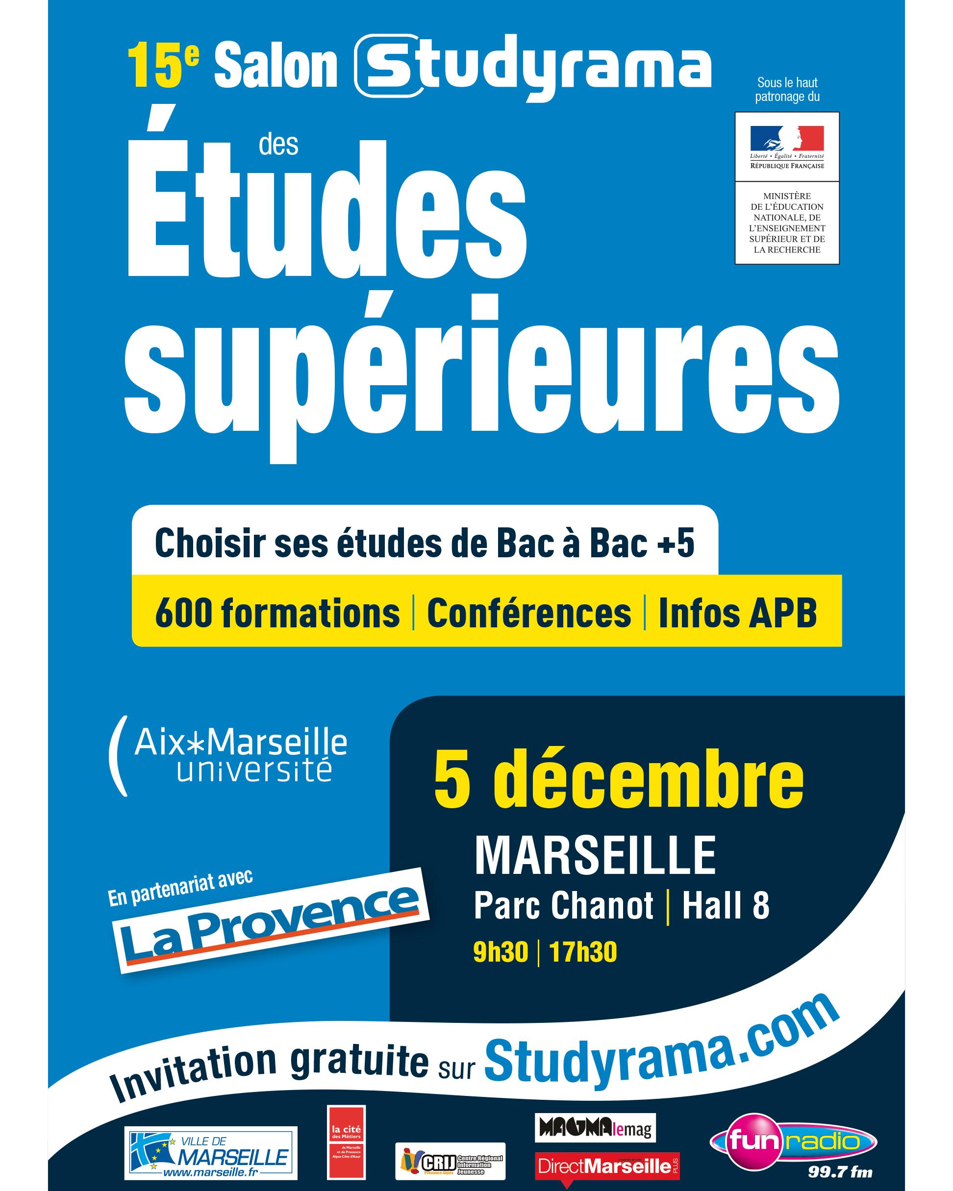 15e salon studyrama des tudes sup rieures samedi 5 for Salon porte de champerret studyrama