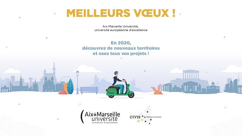 Meilleurs voeux 2020 d'Aix-Marseille Université - cliquer pour ouvrir la vidéo